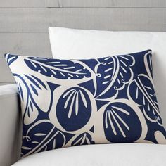 Shop plush throw pillows in square, rectangle and oval shapes from Crate and Barrel. Add comfort to your home with feather-down or down-alternative styles.