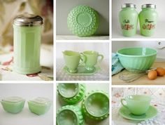Betty's Blog: Jadeite Kitchenware!  LoveNestDesign's color of the month for July is mint green!
