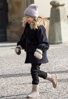 Princess Estelle of Sweden during celebrations for Crown Princess Victoria of Sweden name day at The Royal Palace on March 12, 2017 in Stockholm, Sweden.