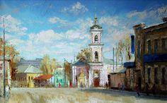 Москва в живописи Михаила Бровкина. Бакунинская