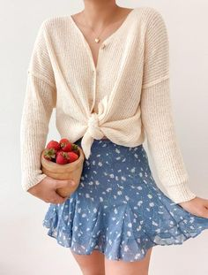 Cozy Sweaters – Breath of Youth Aesthetic Fashion, Aesthetic Clothes, Cute Casual Outfits, Pretty Outfits, Spring Summer Fashion, Spring Outfits, Cute Fashion, Fashion Outfits, Looks Style