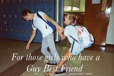 "I do and he's just my best friend. Not ""my guy best friend"", just my best friend, and he is awesome :) Best Friend Quotes For Guys, Boy And Girl Best Friends, Love My Best Friend, Guy Friends, Bff Quotes, Guys And Girls, Girl Quotes, Friendship Quotes, Funny Quotes"