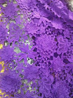 Lace Fabric Graceful Purple Venice Lace Fabric Crocheted Hollowed Out Fabric 35 Inches Wide 1/2 Yard For Wedding Dress Veil Costume Supplies