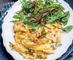 Celerový gratin s pórkem a bramborami Cabbage, Vegetables, Food, Gratin, Essen, Cabbages, Vegetable Recipes, Meals, Yemek