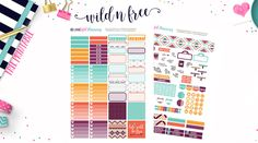 Free Printable Wild & Free Mini Happy Planner Stickers  {PDF and Silhouette Files} from BEaYOUtiful Planning