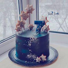 51 Ideas For Birthday Cake Kids Baking Pretty Cakes, Cute Cakes, Beautiful Cakes, Amazing Cakes, Beautiful Birthday Cakes, Galaxy Party, Galaxy Cake, Bolo Tumblr, Chocolate Hazelnut Cake