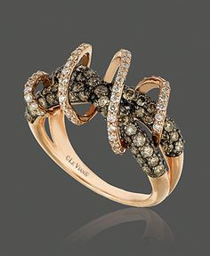 Le Vian Diamond Ring, 14k Gold White Diamond and Chocolate Diamond Swirl Ring (1-3/4 ct. t.w.)