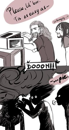 Kili, Fili and the microwave from hell by ~nightmarez0mbie on deviantART