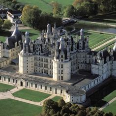 Chambord Chateau in the Loire Valley: worthy of storybooks. roofs