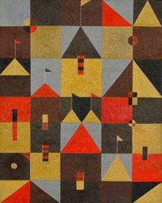 Charles-Green-Shaw-rooftops-and-pennants-1942-heatherjamesfa.jpg (831×1044)