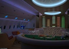 Coloured lighting, new window designs and futuristic furniture are all allowing clients to completely customise their on board experience