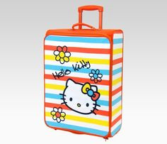 Hello Kitty Rolling Luggage: Bright Colors