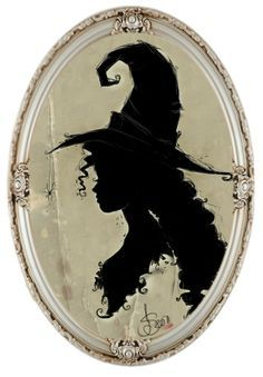 """Magick Wicca Witch Witchcraft: """"Silhouette of a by IdaBlack, at deviantART. Holidays Halloween, Vintage Halloween, Halloween Crafts, Halloween Decorations, Halloween Witches, Happy Halloween, Vintage Witch, Samhain, Witch Silhouette"""
