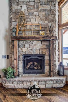 Reclaimed railroad tie mantel