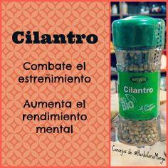 Propiedades del Cilantro. Consejos de Herbolario Marga. Spices, Juices, Medicinal Plants, Natural Medicine, Herbs