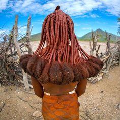 Himba girl with dreadlocks, Namibia, Africa
