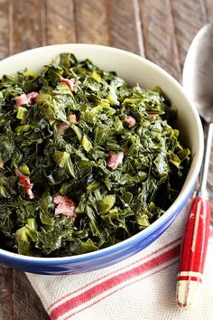 This classic Southern recipe for Collard Greens is easy and super tasty!  #collards #collardgreens #southern #recipe