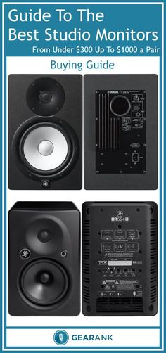 Guide to the Best Studio Monitors Under $1000 a Pair. Useful advice for anyone looking to buy new studio monitors in this price range along with a list of the recommendations on which ones to get with all items rated by the Gearank Algorithm.