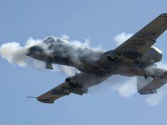 A-10 firing its 30 mm cannon :D