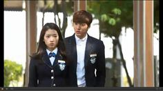 Lee Min Hoo and Park Shin Hye in The Heirs