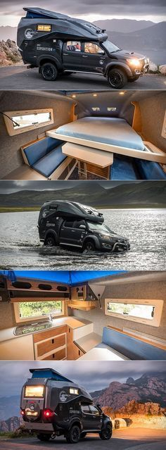 cool Toyota Hilux Expedition Vehicle is a Mini Home on Wheels That Goes Anywh. - cool Toyota Hilux Expedition Vehicle is a Mini Home on Wheels That Goes Anywhere, Even Water Che - Truck Camper, Kombi Motorhome, Camper Trailers, Camper Van, Hilux Camper, Toyota Camper, Toyota Trucks, Pickup Trucks, Auto Camping
