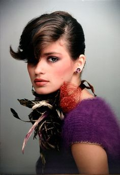 Gia Carangi. She contracted AIDS from a heroin habit. Bless her poor soul.