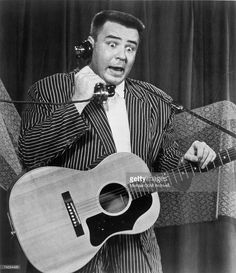 The Big Bopper (Jiles Perry Richardson, Jr.) performs his hit 'Chantilly Lace' on stage in 1958.
