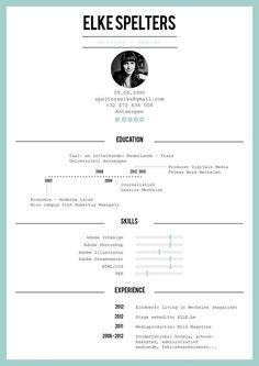 Resume by Elke Spelters, via Behance::