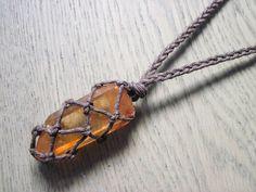 Tangerine Quartz Necklace, Hematite Quartz Necklace, Orange Quartz, Raw Crystal Necklace, Healing Crystal Necklace, Sacral Chakra Stone
