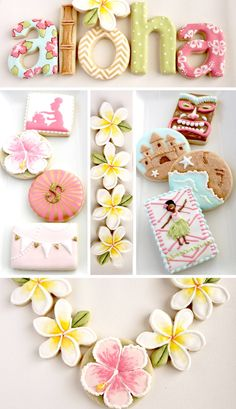 "Fabulous ""Hawaiian"" themed #Cookies...so cute <3 <3"
