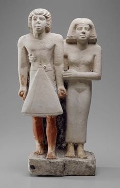Pair statue from the tomb of Weri. Egyptian, Old Kingdom, 5th Dynasty, reign of Niuserra to Una, 2455-2350 B.C.