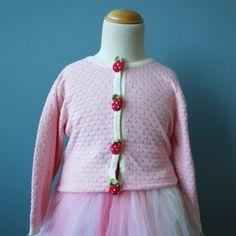 Strawberry Cardigan Pink - Oobi.com.au