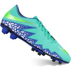 Nike HyperVenom Phade II Women's Soccer Cleats, Size: 10, Hyper... ($41) ❤ liked on Polyvore featuring hyper turquoise