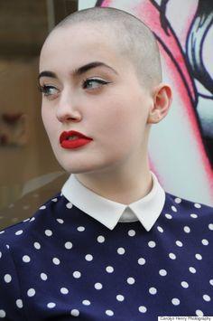 Leyah Shanks - no hair, lots of makeup