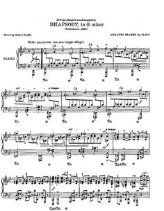 Brahms Rhapsody in G Minor!!! One of my favorite pieces!!!!