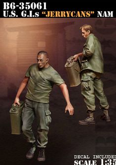 """""""Jerrycans"""", versatile and invaluable for any 'nam or cold war era diorama!"""