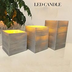 """Decorative LED Flickering Flameless Candles Set Tea light Holders Fall Decor Halloween Christmas Decorations Gift (2.95"""" D x 4.72"""" H (7.5cm x12cm), Silver) >>> Learn more by visiting the image link."""