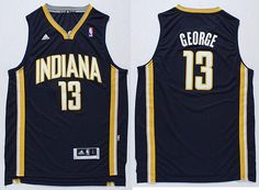 Indiana Pacers #13 paul george navy blue jerseys