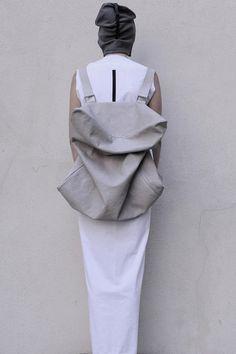 serien°umerica: Leather Accessories - Design Milk.  Ultra backpack!
