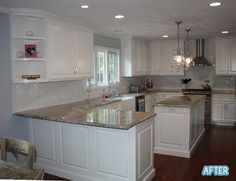 kitchen love, glad to see no white countertops, they are a PAIN http://betterafter.blogspot.com/