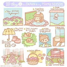 "Tsuyu (rainy) season is one of the least favorite seasons in Japan, but we listed 10 reasons you shouldn't let this seemingly gloomy weather stop you from enjoying your trip! ☔ 10 things to do in Japan during Tsuyu Season ☔ 1. View ajisai (hydrangea) ~ There are lots of hydrangea parks and gardens in Japan! 2. Experience onsen 3. Make teru teru bouzo, or ""shine shine monk"" 4. Buy cute rain gear! Tip: Stock up on clean wipes as well, since the weather can get humid and sticky! 5. Take…"