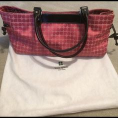 """Kate Spade PINK Handbag FINAL PRICE Handbag Kate Spade Some spots throughout please see pictures comes with Dust Bag spots should come out! 16 x 8 x 5-1/2"""" Approx! Roomy BagNO TRADES NO HOLDS LOWBALL OFFERS WILL BE IGNORED kate spade Bags"""