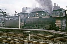 LNER Thompson Class B1 4-6-0 no. 61092 departs from Sheffield Midland light engine. Sheffield North Jn signal box in the background. 18th September 1965 (Bill Wright)