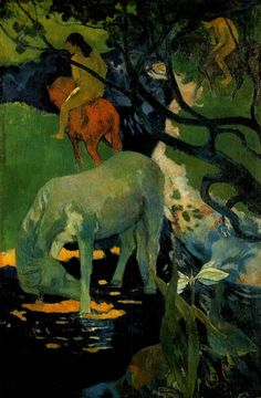 Gauguin Le cheval blanc - Paul Gauguin - Wikipedia