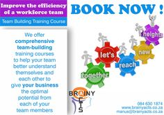 Enhance your team through team building, improve communication skills and start work better together. Learn to collaborate and start forming a more creative team, develop good old fashioned team spirit and become a strong, motivated duo.  For a new and improved working team Contact us 084 630 1874 #brainyacts #2020 #newyear