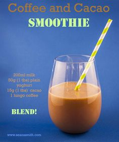 Thermomix smoothies: Coffee and Cacao Breakfast Smoothie Coffee Breakfast Smoothie, Coffee Smoothie Recipes, Smoothies Coffee, Coffee Recipes, Meat Recipes, Baking Recipes, Peanut Butter Coffee, Cacao Smoothie, Protein Coffee