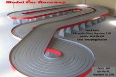 Commercial slot car track