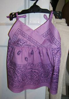 Dollar Store Baby Dresses from Bandannas - CLOTHING