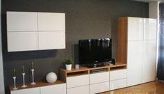Me Ensenais Vuestros Comedores Besta De Ikea Cupboard Dining Room Storage, Ikea Storage, Cabinet Storage, Hidden Storage, Storage Ideas, Ikea Tv Stand, Ikea Living Room, Living Room Ideas Tv Wall, Ikea Bedroom