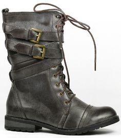 Military Combat Mid Calf Boot,  Too cute :D